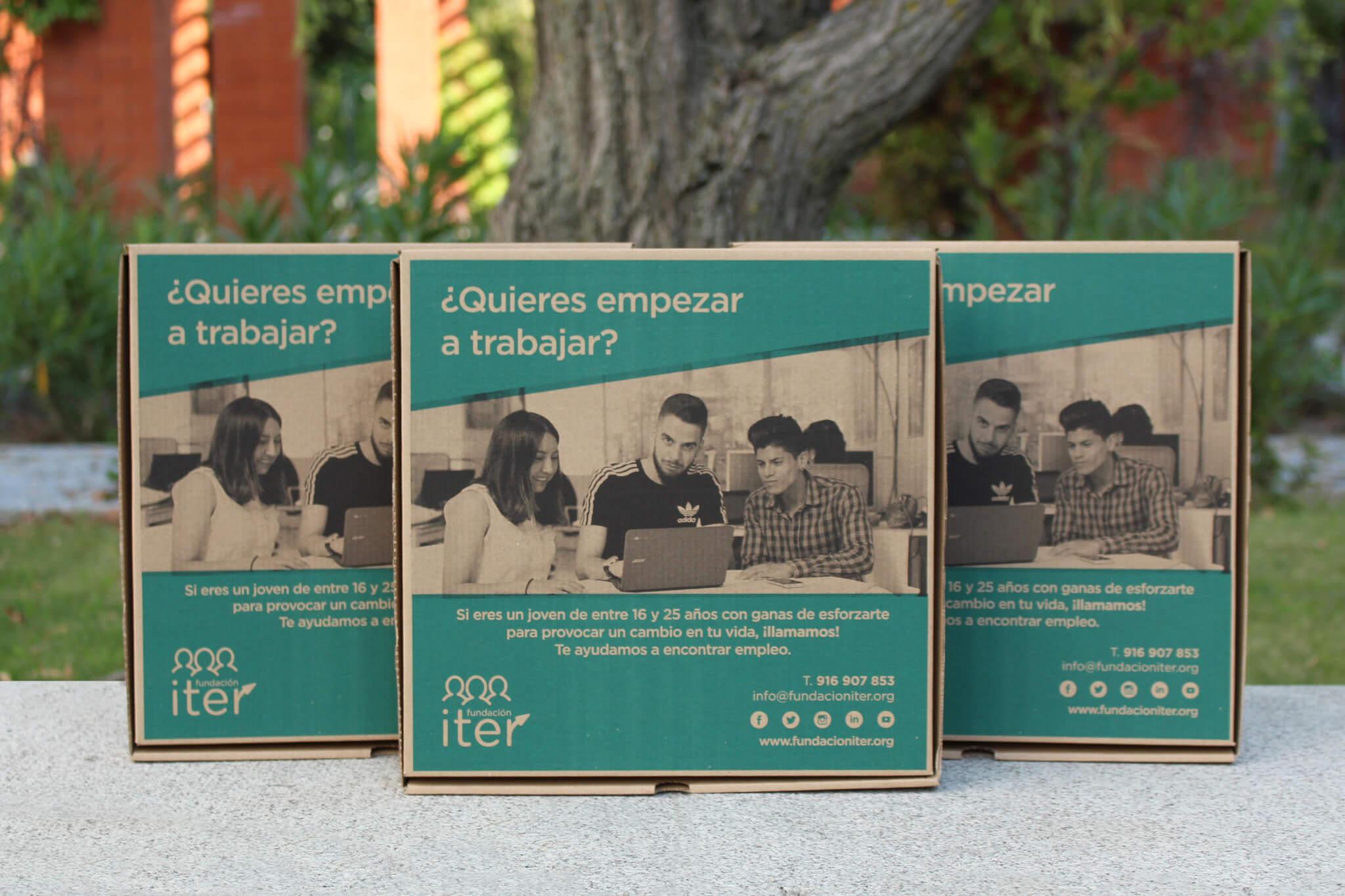 CAJAS SOLIDARIAS DE FUNDACIÓN ITER Y TELEPIZZA