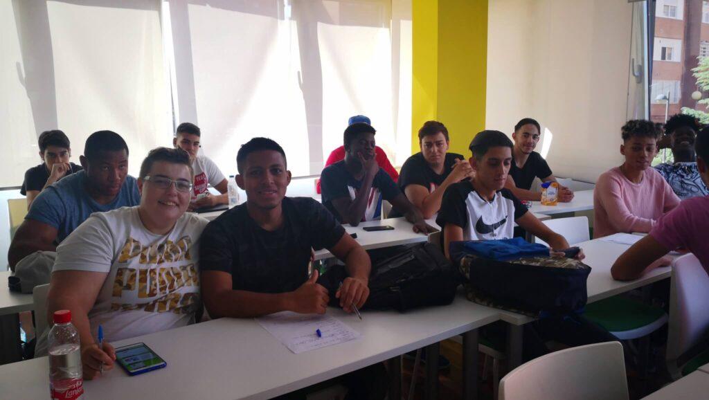 jóvenes Iter en el taller de formación ocupacional